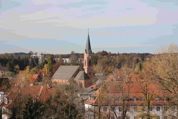 Außenansicht St. Katharina im Westen Landsbergs