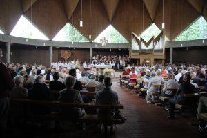 Gottesdienst in der Heilig-Engel-Kirche