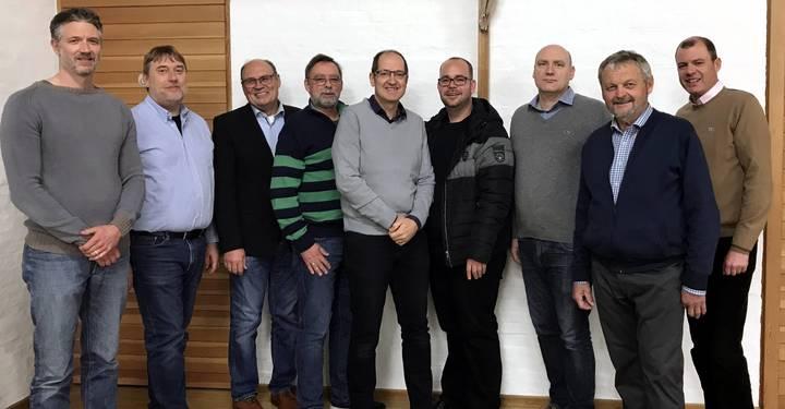 Die Mitglieder der Kirchenverwaltung der Pfarrei Zu den Heiligen Engeln