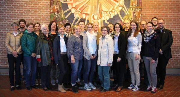 Die Mitglieder des Pfarrgemeinderates der Pfarrei Zu den Heiligen Engeln