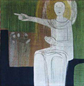 Auferstehungsengel im Kreuzweg von Sr. Animata Probst